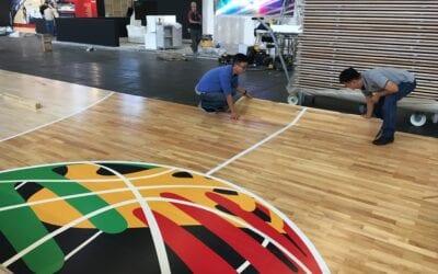 FIBA show floor, FSB 2019